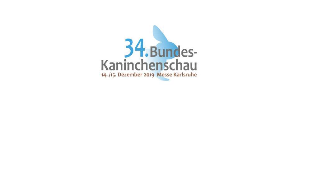 Logo 34. Bundes-Kaninchenschau 2019 in Karlsruhe